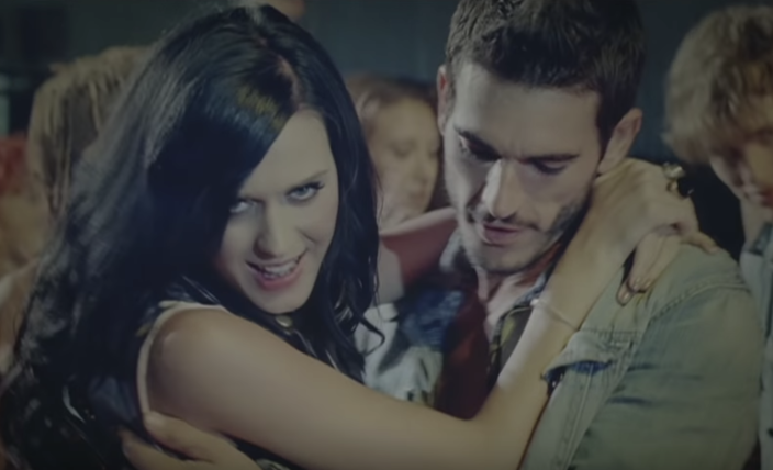 Katy Perry and Josh Kloss in the Teenage Dream music video (YouTube)
