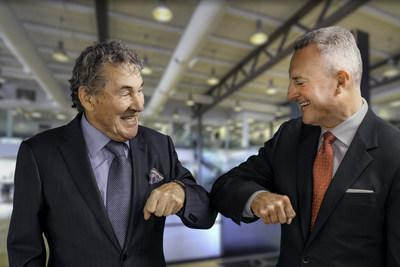 Joe Zanchin, CEO of the Zanchin Automotive Group (left), and Brian Fulton, Managing Partner, Mercedes-Benz Newmarket (right). (CNW Group/Zanchin Automotive Group)