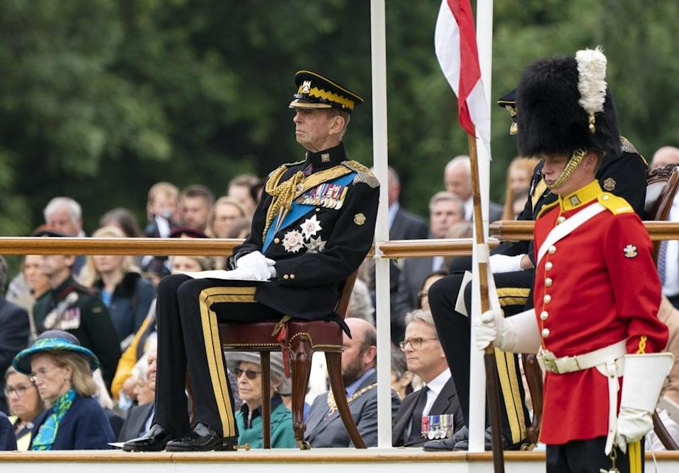 The Duke of Kent during the service in the garden of the Palace of Holyroodhouse in Edinburgh (Jane Barlow/PA) (PA Wire)