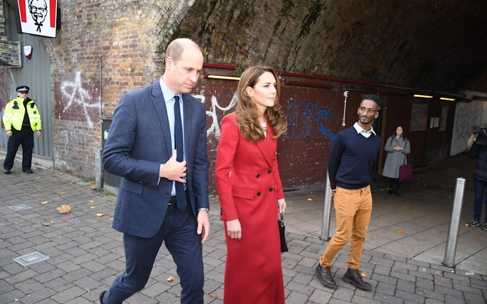 The Duke and Duchess of Cambridge view images at Waterloo station - Jeremy Selwyn