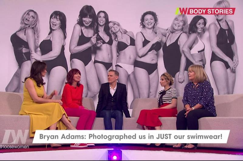 Stripping off: The Loose Women panellists posed for Bryan Adams
