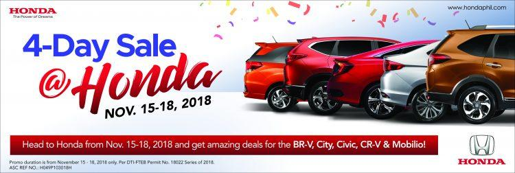 Honda Cars 4-Day Sale
