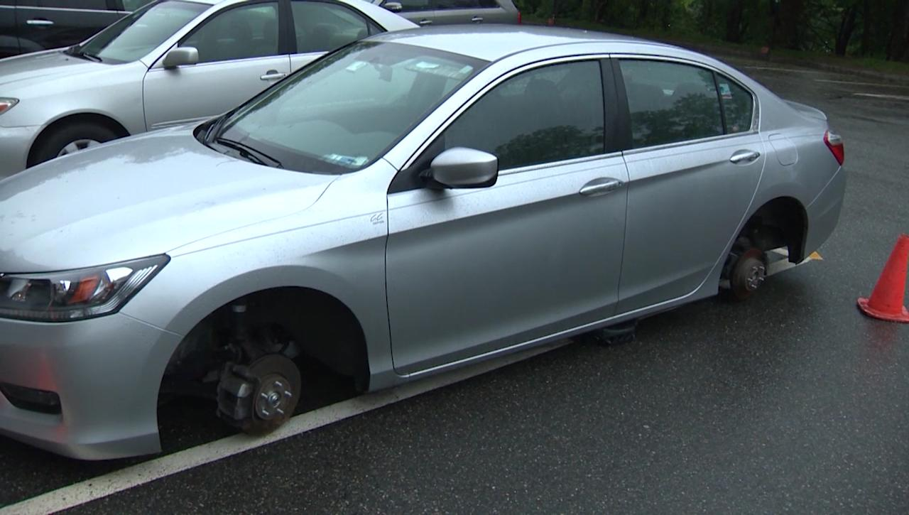 Wheels stolen from Honda vehicles in several communities