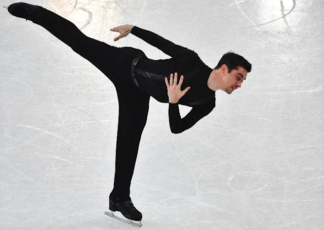 Spain's Javier Fernandez, currently ranked first, competes in the men's short program at the ISU World Figure Skating Championships in Helsinki, Finland on March 30, 2017 (AFP Photo/John MACDOUGALL)
