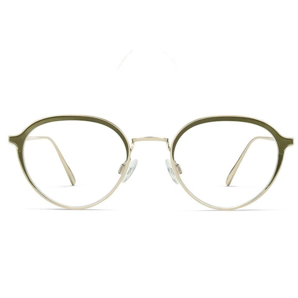 """<p><strong>Warby Parker</strong></p><p>warbyparker.com</p><p><strong>$145.00</strong></p><p><a href=""""https://go.redirectingat.com?id=74968X1596630&url=https%3A%2F%2Fwww.warbyparker.com%2Feyeglasses%2Fmen%2Fradlett%2Fokra-with-polished-gold&sref=https%3A%2F%2Fwww.bestproducts.com%2Fmens-style%2Fg33594937%2Fstylish-glasses-frames-for-men%2F"""" rel=""""nofollow noopener"""" target=""""_blank"""" data-ylk=""""slk:Shop Now"""" class=""""link rapid-noclick-resp"""">Shop Now</a></p><p>The polished gold finish on these frames is a glamorous touch for a man with a distinct sense of style. While these eyeglasses look delicate, the frames are made from strong stainless steel and the lenses from durable polycarbonate. Looks may be deceiving with these sturdy glasses.</p>"""