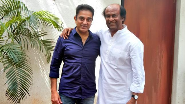 While Kamal Haasan has revealed the name of his political party, Rajini has kept his supporters guessing - for now.