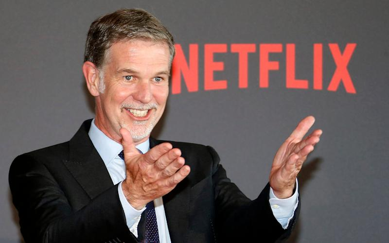 Netflix chief executive Reed Hastings had led explosive growth in the UK - EPA