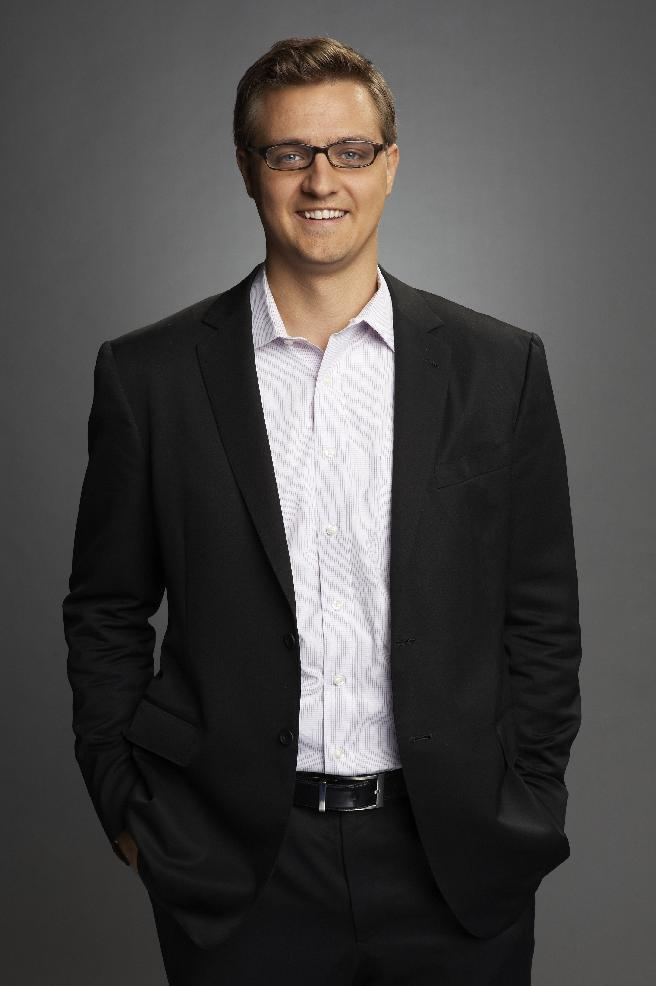 "Chris Hayes of MSNBC is seen in an udated photo provided by MSNBC. Hayes will replace Ed Schultz, who is losing his prime-time show on MSNBC. Schultz will be replaced weeknights by Hayes, whose talk show, ""Up,"" has been a weekend morning mainstay on the MSNBC schedule since 2011. It begins April 1. The cable network says Schultz is being moved to the weekends, to host two-hour shows Saturday and Sunday at 5 p.m. EDT. (AP Photo/MSNBC)"