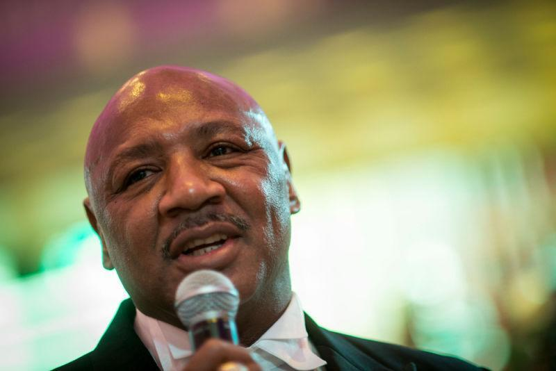 Laureus Academy Member Marvelous Marvin Hagler attends a fundraising dinner of Operation Breakthrough at Kai Tak Cruise Terminal on March 6, 2015 in Hong Kong. Laureus supported-project Operation Breakthrough have organised a forum In Hong Kong to cover the topic Sport can change lives and a fundraising dinner. Operation Breakthrough utilises sport as a means to help, rehabilitate and enhance opportunities for youth.
