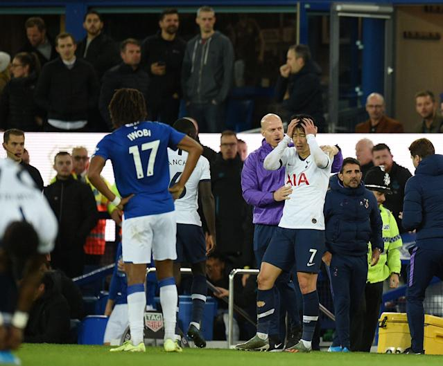 Son himself was one of the most affected, with Tottenham supporting the forward. (Photo by OLI SCARFF/AFP via Getty Images)