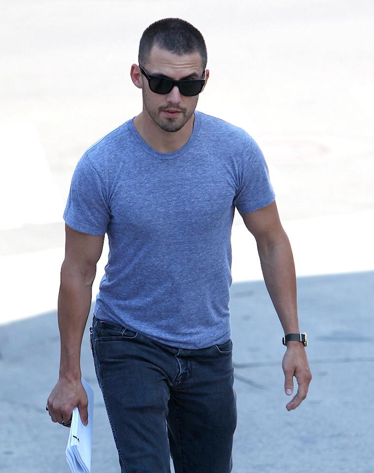 "Milo Ventimiglia, was also at the table reading. Can you picture the former ""Heroes"" hottie on horseback? Kmm/<a href=""http://www.x17online.com"" target=""new"">X17 Online</a> - July 12, 2010"