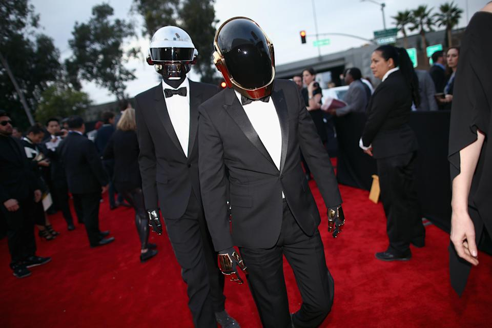 LOS ANGELES, CA - JANUARY 26: Recording artists Daft Punk attend the 56th GRAMMY Awards at Staples Center on January 26, 2014 in Los Angeles, California.  (Photo by Christopher Polk/Getty Images for NARAS)Getty Images for NARAS