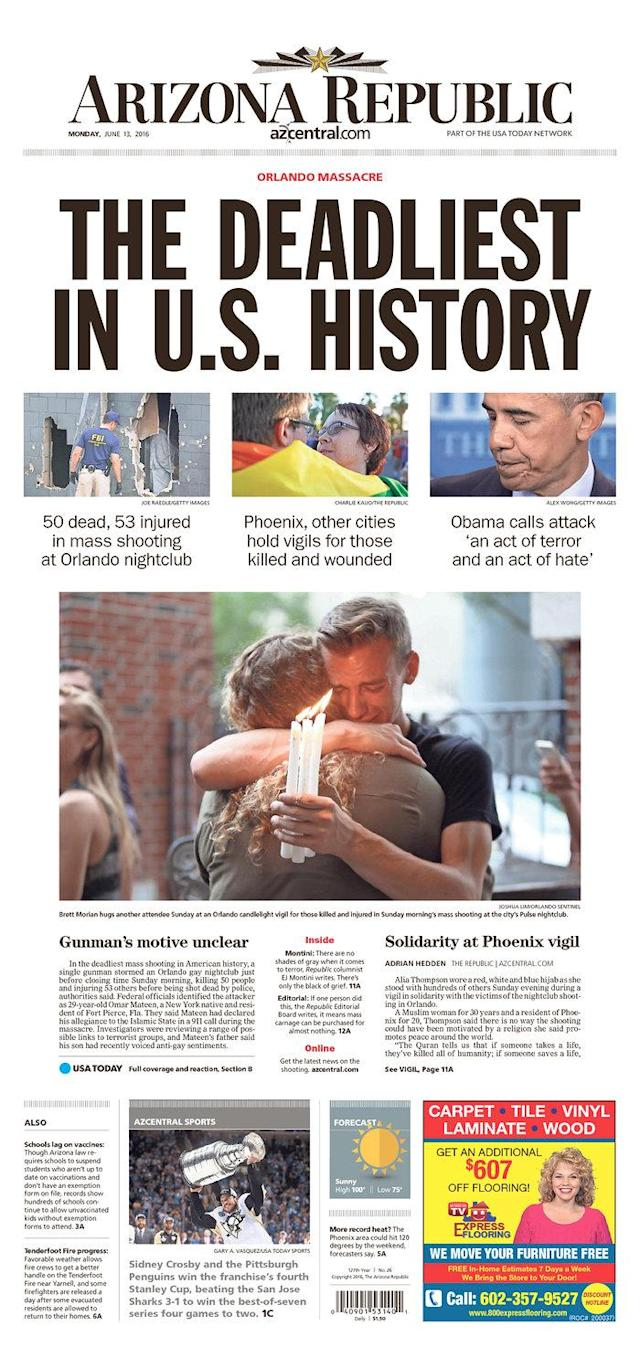 <p>The Arizona Republic<br> Published in Phoenix, Ariz. USA. (newseum.org) </p>