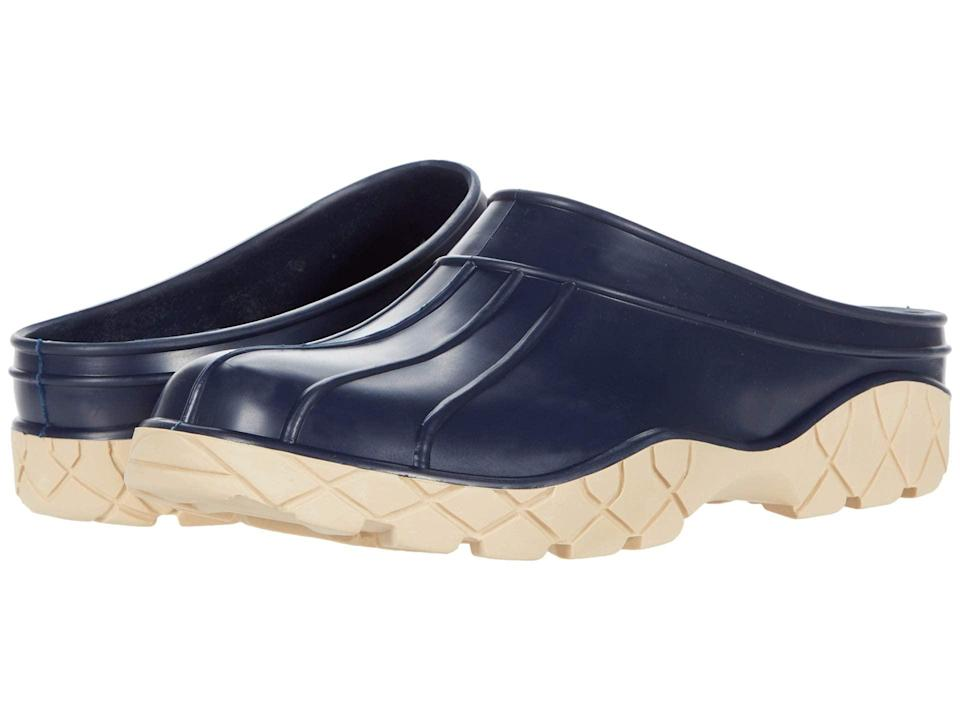 "<h2>Baffin Patio Clog</h2><br>These treaded rubber slip-ons could have shuffled off the Loewe's Fall/Winter runway, but they're actually gardening clogs from Canadian boot outfit Baffin.<br><br><strong>Baffin</strong> Patio Clog, $, available at <a href=""https://go.skimresources.com/?id=30283X879131&url=https%3A%2F%2Fwww.zappos.com%2Fp%2Fbaffin-patio-clog-navy%2Fproduct%2F9335960%2Fcolor%2F9"" rel=""nofollow noopener"" target=""_blank"" data-ylk=""slk:Zappos"" class=""link rapid-noclick-resp"">Zappos</a>"