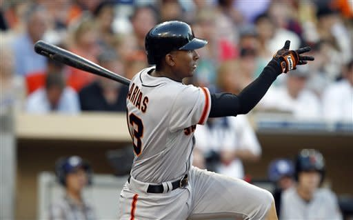 Joaquin Arias leads Giants to 8-7 win over Padres