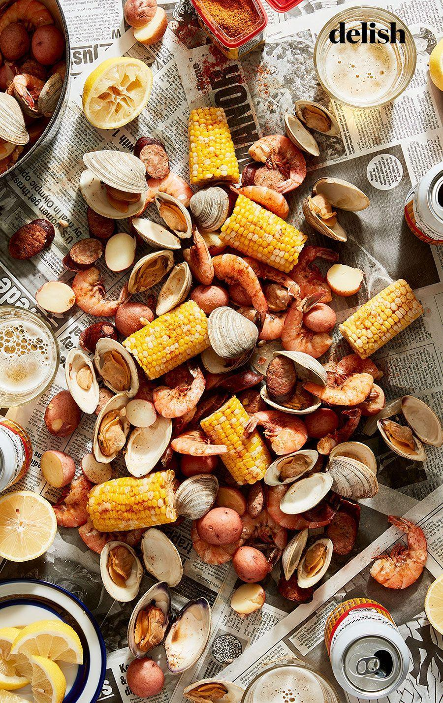 """<p>Red potatoes soak up the Old Bay boiling liquid for a healthy starch that tastes like vacation.</p><p>Get the recipe from <a href=""""https://www.delish.com/cooking/recipe-ideas/a36958848/seafood-boil-recipe/"""" rel=""""nofollow noopener"""" target=""""_blank"""" data-ylk=""""slk:Delish"""" class=""""link rapid-noclick-resp"""">Delish</a>.</p>"""