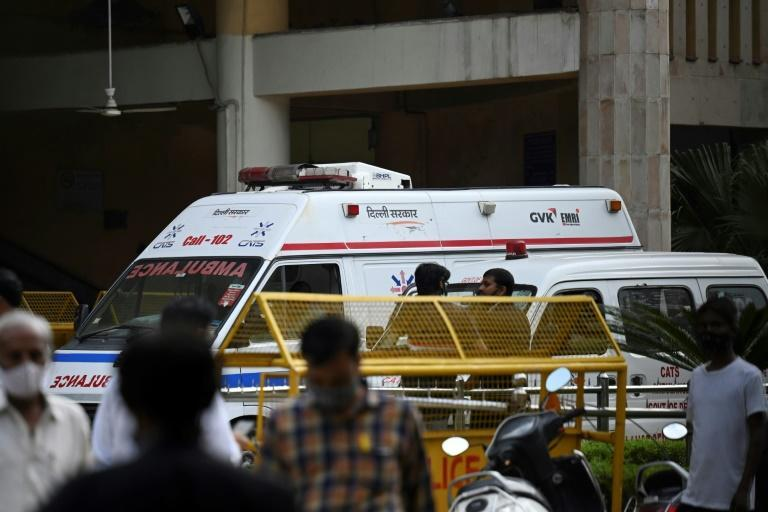 Notorious Indian gangster Jitendra Gogi was shot dead in court by gunmen dressed as lawyers (AFP/Money SHARMA)
