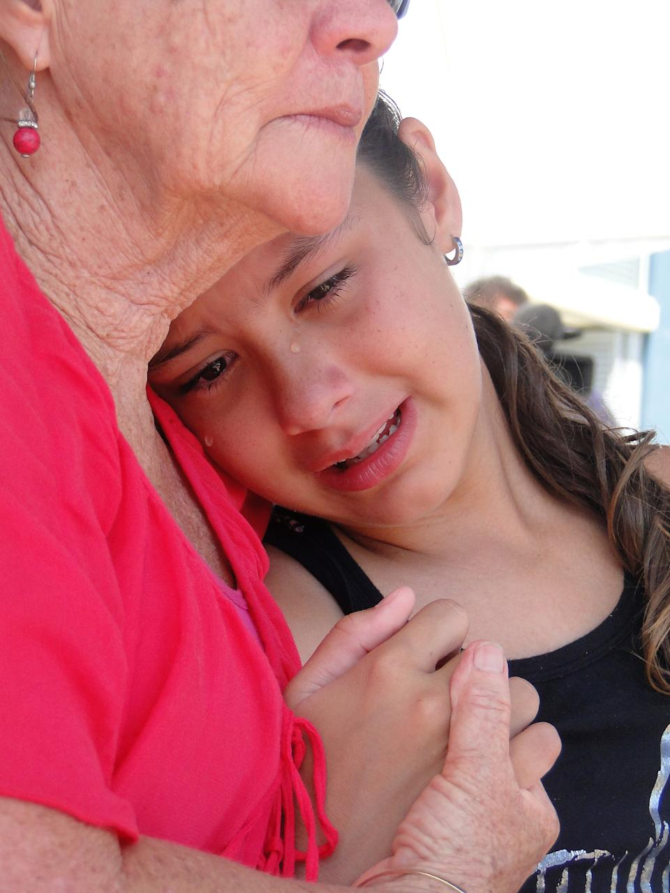 Jordan McGuinness's sister Montana sobs after his death. She was 10 years old when the accident occurred.