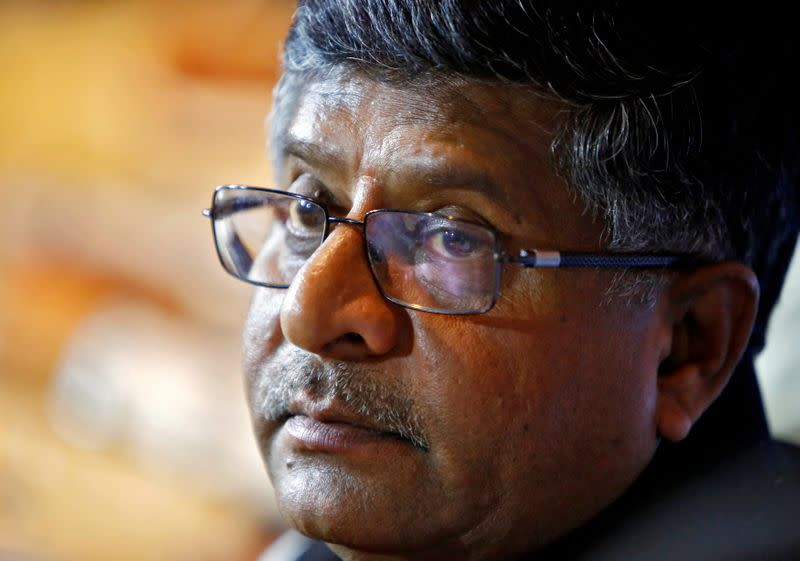 FILE PHOTO: India's Law and TM Prasad pauses during a news conference in New Delhi