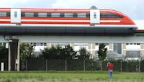 <p><b>Transrapid or TR-09</b> is a German high-speed monorail train using magnetic levitation and can hit a speed of 450 km/hour (270.3 mph).</p><p>(AFP Photo)/ (Information source for all slides: www.fastesttrain.org)</p>