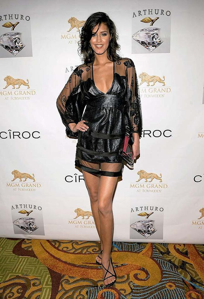 "Jaslene Gonzalez looks like she's headed for a slumber party in her negligee-inspired dress. Larry Busacca/<a href=""http://www.wireimage.com"" target=""new"">WireImage.com</a> - May 17, 2008"