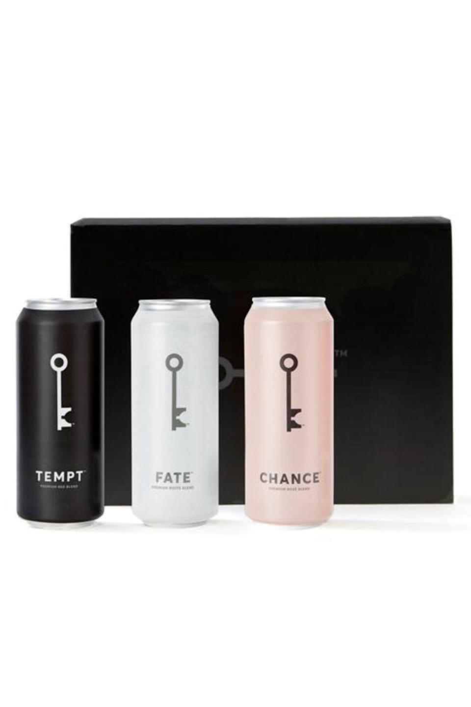 """<p><strong>Wine Society</strong></p><p>winesociety.com</p><p><strong>$49.00</strong></p><p><a href=""""https://winesociety.com/products/3-pack"""" rel=""""nofollow noopener"""" target=""""_blank"""" data-ylk=""""slk:Shop Now"""" class=""""link rapid-noclick-resp"""">Shop Now</a></p><p>She'll thank you for introducing her to this canned wine. It's a great grab-and-go product for a picnic or the perfect single serving so there's no need to open a full bottle!</p>"""