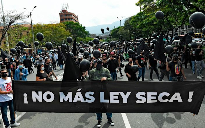 colombia lockdown protests - Getty