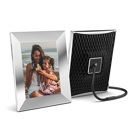 Nixplay 2K Silver Smart Digital Photo Frame 9.7 Inch - Share Moments Instantly via App or E-Mail