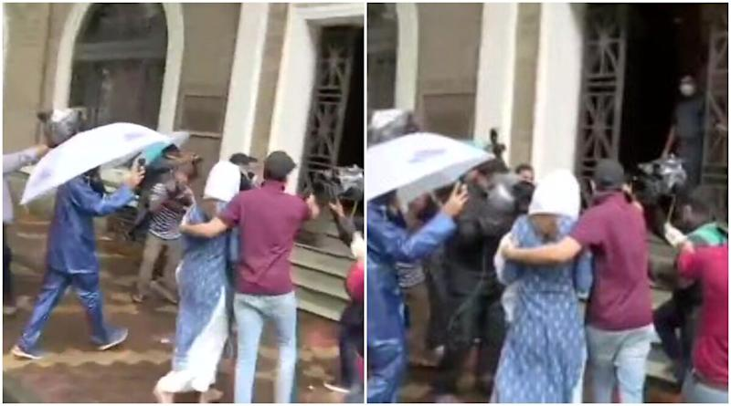 Sushant Singh Rajput Death Probe: Rhea Chakraborty Reaches ED Office to Record her Statement (View Pics)