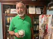 """Cuban writer Leonardo Padura, a huge baseball fan, says the decision to defect is """"very complicated"""" (AFP/Katell ABIVEN)"""