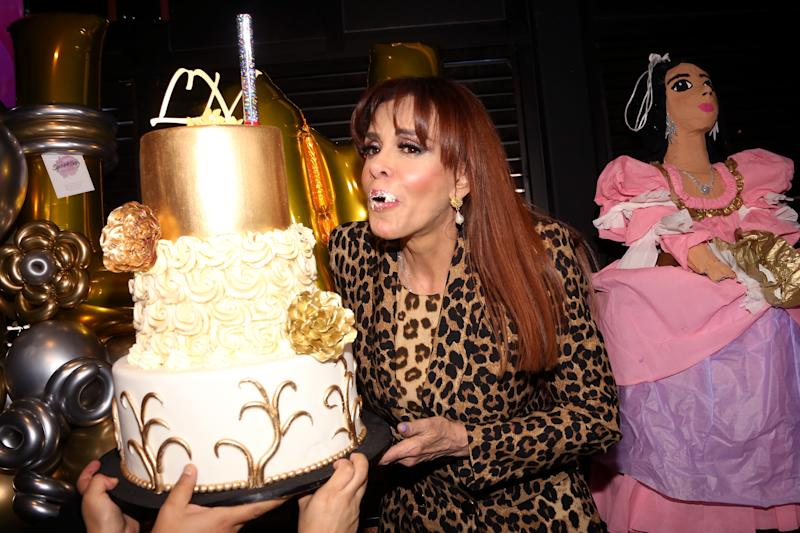 MEXICO CITY, MEXICO - JANUARY 27: Lucía Méndez poses for photos during her Birthday Celebration on January 27, 2020 in Mexico City, Mexico. (Photo by Adrián Monroy/Medios y Media/Getty Images)
