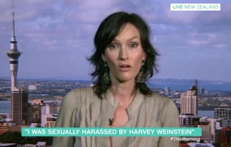 Aussie model Zoe Brock has recounted her own sexual assault story with Harvey Weinstein. Source: This Morning / ITV