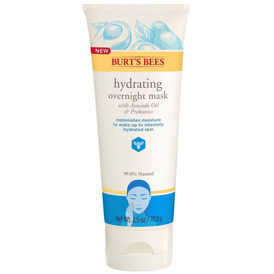 """<p>In the instance of flaky, dry skin, grab this overnight mask with avocado oil for a deeply moisturizing treatment. Simply apply a layer onto skin, let it absorb for 10 minutes, then massage in the remaining product before hitting the hay. The result is noticeably more hydrated skin the following morning, according to <a href=""""https://wexlerdermatology.com/about/dr-patricia-wexler/"""" target=""""_blank"""">Patricia Wexler</a>, MD, a New York-based board-certified dermatologist.</p> <p><strong>To buy: </strong>$15; <a href=""""http://goto.target.com/c/249354/81938/2092?subId1=RS%2CTheBestDrugstoreFaceMasks%2Crsylvest%2CSKI%2CIMA%2C689741%2C202001%2CI&u=https%3A%2F%2Fwww.target.com%2Fp%2Fburt-39-s-bees-hydrating-overnight-face-mask-2-5oz%2F-%2FA-75562001"""" target=""""_blank"""">target.com</a>.</p>"""
