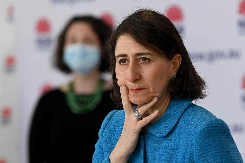 NSW Premier Gladys Berejiklian speaks to the media during a press conference to provide a COVID-19 update, in Sydney.