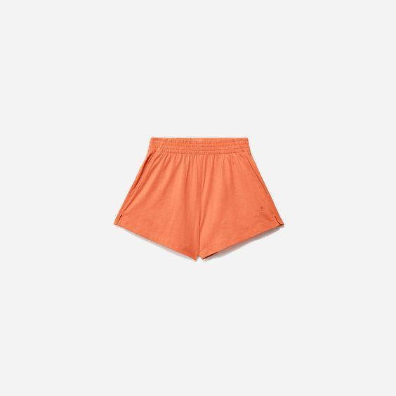 """Of course, the shorts to match! $38, Everlane. <a href=""""https://www.everlane.com/products/womens-retro-jersey-short-terracotta?collection=womens-sale"""" rel=""""nofollow noopener"""" target=""""_blank"""" data-ylk=""""slk:Get it now!"""" class=""""link rapid-noclick-resp"""">Get it now!</a>"""