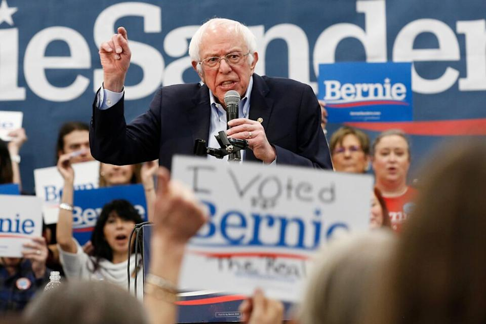 Bernie Sanders in Nevada on Sunday. | Rich Pedroncelli/AP/Shutterstock