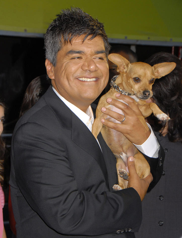 """<a href=""""http://movies.yahoo.com/movie/contributor/1802477849"""">George Lopez</a> at the Los Angeles premiere of <a href=""""http://movies.yahoo.com/movie/1809922965/info"""">Beverly Hills Chihuahua</a> - 09/18/2008"""