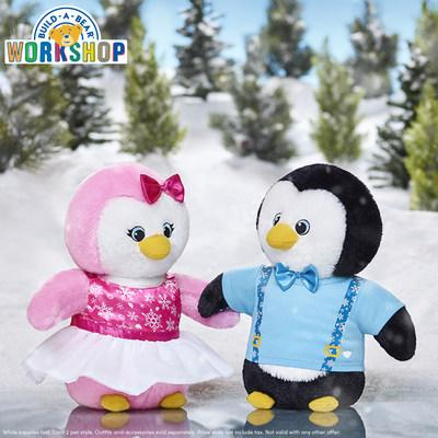 """Build-A-Bear Workshop® is rolling out """"Big Furry Deals"""" this holiday season. Guests who visit Build-A-Bear Workshop stores or buildabear.com on Black Friday (Nov. 23) can snag a 12-inch pink or black Snow Hugs Penguin plush for only $6 each. Additionally, on Nov. 23, deal-seekers can delight in a Buy One, Get One for $6 offer on any furry friend!"""