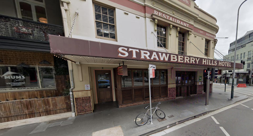 Strawberry Hills Hotel in Sydney is pictured.