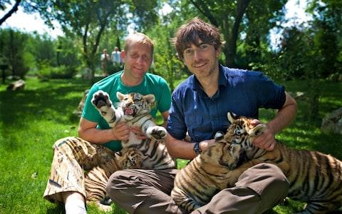 Oleg Zubkov with television presenter Simon Reeve - Credit:  Jonathan Young