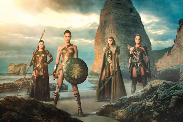 "Gal Gadot, Robin Wright,  <span class=""itemprop"">Lisa Loven Kongsli, and Connie Nielsen in <em>Wonder Woman. </em></span>(Photo: Warner Bros.)"