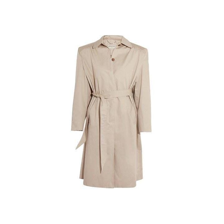 "<p>The trench is an item you can invest in that will never go out of style. Balenciaga Cotton-twill Trench Coat, $2,395, <a rel=""nofollow"" href=""https://www.net-a-porter.com/us/en/product/884882/Balenciaga/cotton-twill-trench-coat?mbid=synd_yahoolife"">Net-a-Porter.com</a></p>"