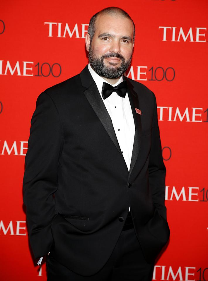 Astronomer Guillem Anglada Escude arrives for the Time 100 Gala in the Manhattan borough of New York, New York, U.S. April 25, 2017.  Picture taken April 25, 2017.  REUTERS/Carlo Allegri