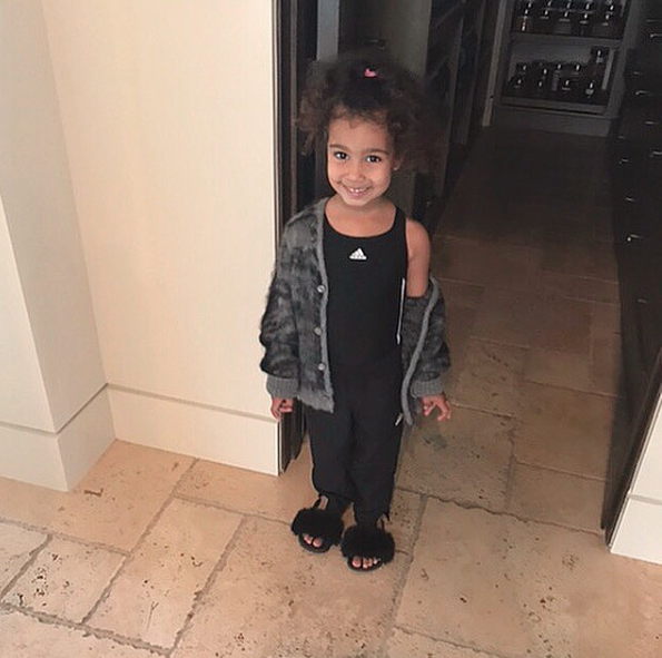 Her four-year-old daughter North was seen taking the half-naked pic. Source: kimkardashianwest/Instagram