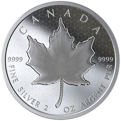 The Royal Canadian Mint's Pulsating Maple Leaf fine silver collector coin (CNW Group/Royal Canadian Mint)
