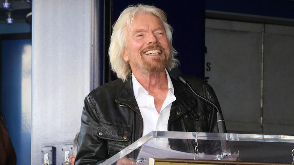 LOS ANGELES - OCT 16: Sir Richard Branson at the Sir Richard Branson Star Ceremony on the Hollywood Walk of Fame on October 16, 2018 in Los Angeles, CA.