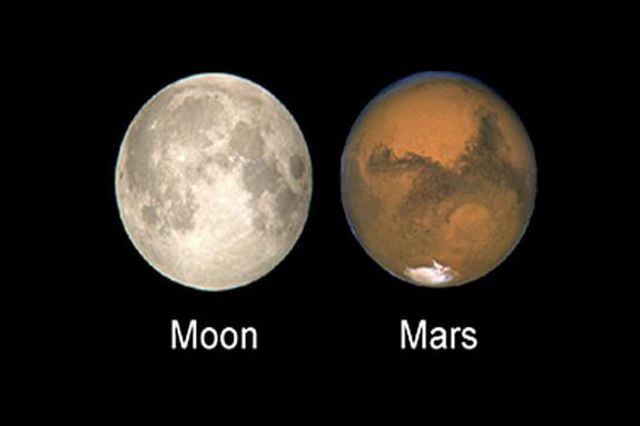 Mars as Big as the Moon? No, Stargazing Hoax Hits Facebook