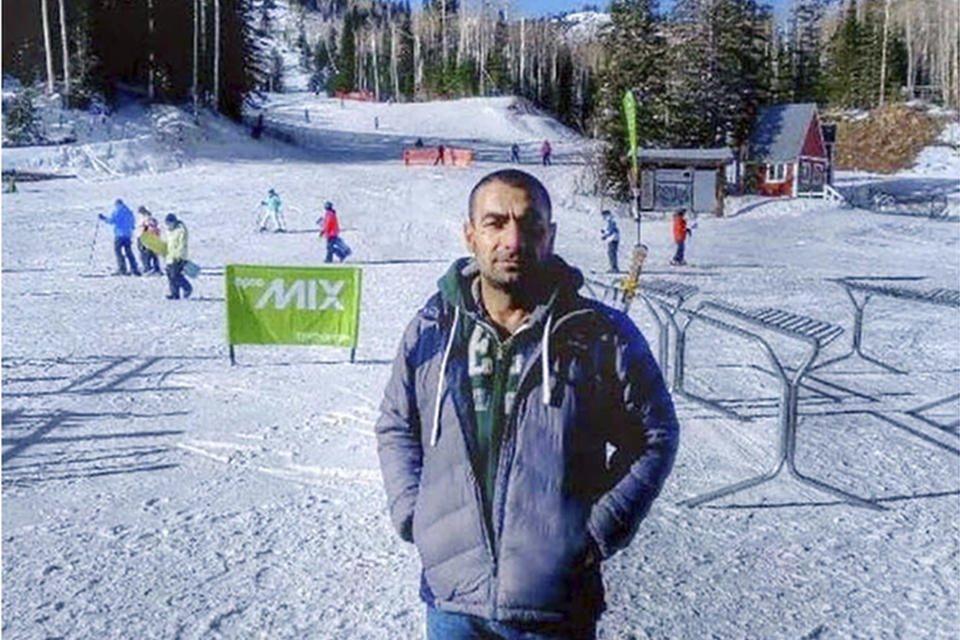 This undated photo released by U.S. Attorney's Office shows the Omar Abdulsattar Ameen. A federal judge in California refused Wednesday, April 21, 2021, to allow the extradition to Iraq of Ameen, accused of killing for the Islamic State, saying cellphone evidence shows he was in Turkey at the time of the slaying. The U.S. Justice Department has tried since 2018 to return Omar Abdulsattar Ameen to Iraq under a treaty with that nation. (U.S. Attorney's Office via AP)