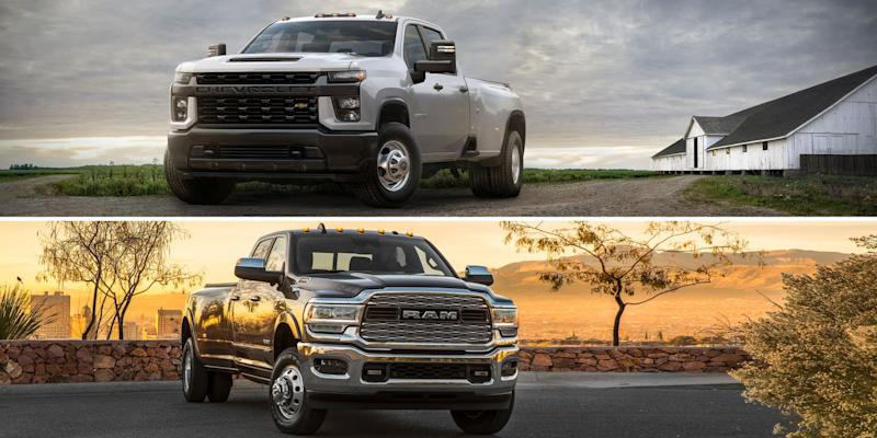 Photo credit: Chevrolet, Ram