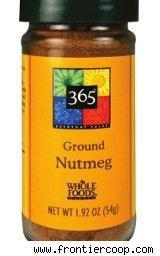 Recalled ground nutmeg from Frontier Foods
